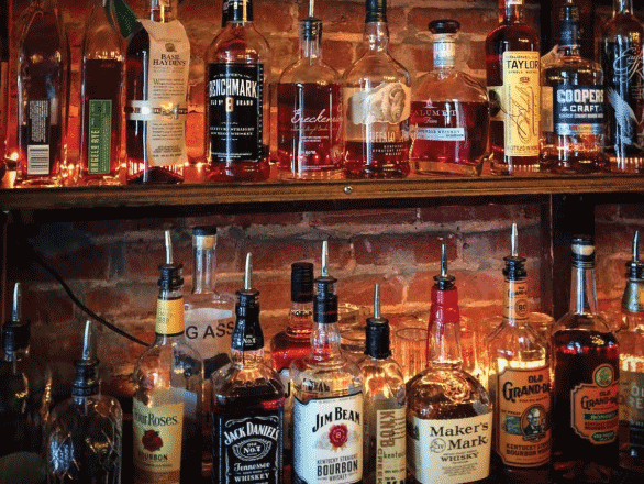 photo of bourbon bar